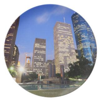 Downtown Houston, Texas Dinner Plates
