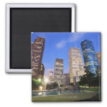 Downtown Houston, Texas Square Magnet