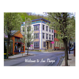 Downtown Jim Thorpe, PA Postcard