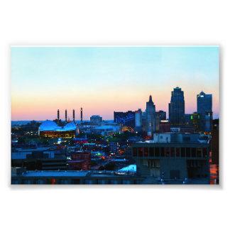 Downtown Kansas City at Sunset Photo Print