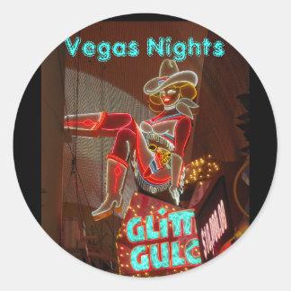 Downtown Las Vegas Classic Round Sticker