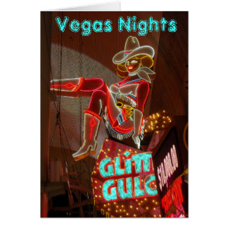 Downtown Las Vegas Nights Card