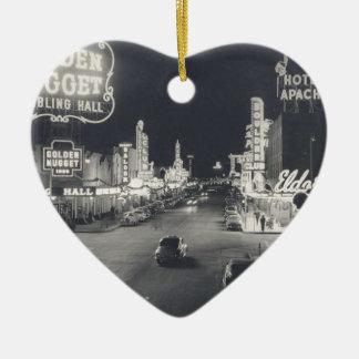 Downtown Las Vegas Retro Ceramic Heart Decoration