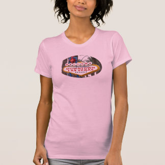 Downtown Las Vegas Sign Ladies Fitted Camisole T-Shirt