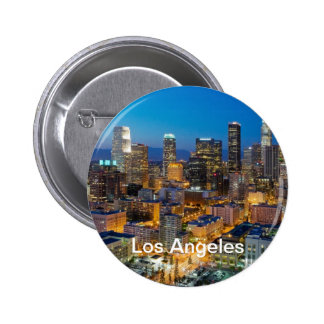 Downtown Los Angeles at Dusk 6 Cm Round Badge