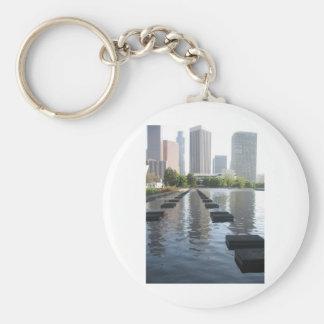 Downtown Los Angeles California By Bernadette Seba Basic Round Button Key Ring