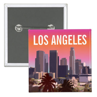 Downtown Los Angeles - Customizable Image 15 Cm Square Badge