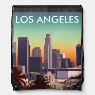 Downtown Los Angeles - Customizable Image Drawstring Bags