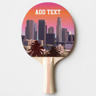 Downtown Los Angeles - Customizable Image Ping Pong Paddle