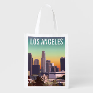 Downtown Los Angeles - Customizable Image Reusable Grocery Bag