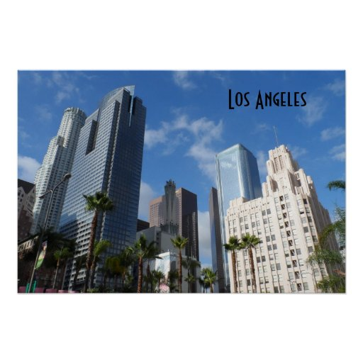 Downtown Los Angeles Print Zazzle