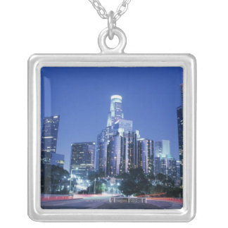 Downtown Los Angeles Silver Plated Necklace