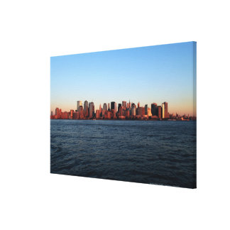 Downtown Manhattan at dusk Canvas Print