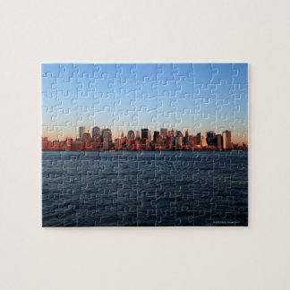 Downtown Manhattan at dusk Puzzles