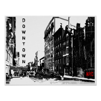 Downtown Manhattan Poster