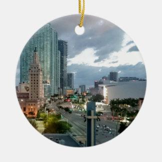 Downtown Miami Christmas Ornament