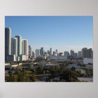 Downtown Miami Skyline Poster