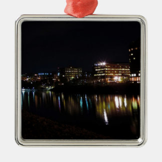 Downtown Morgantown at Night Christmas Ornament