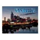 Downtown Nashville skyline, Tennessee at night Postcard