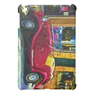 Downtown Oldie! Antique Red Classic Car Case For The iPad Mini