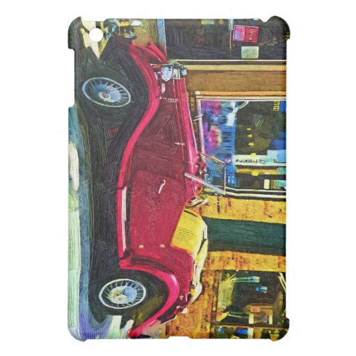 Downtown Oldie! Antique Red Classic Car iPad Mini Case
