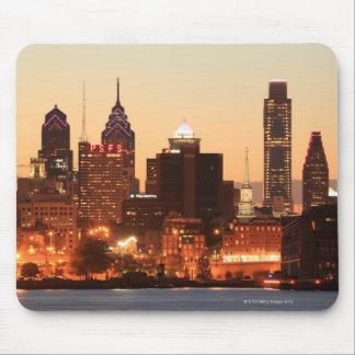 Downtown Philadelphia, Pennsylvania at sunset Mouse Mat