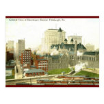 Downtown, Pittsburgh 1915 Vintage Post Card