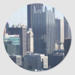 Downtown Pittsburgh Round Stickers