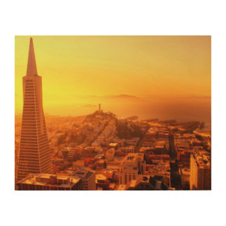 Downtown San Francisco, CA Wood Canvases