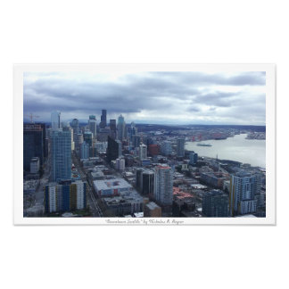 """Downtown Seattle"" City Decor Photo Prints"