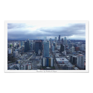 """Downtown"" Seattle City Decor Photo Prints"