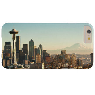 Downtown Seattle skyline and Space Needle Barely There iPhone 6 Plus Case