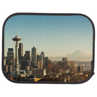 Downtown Seattle skyline and Space Needle Car Mat