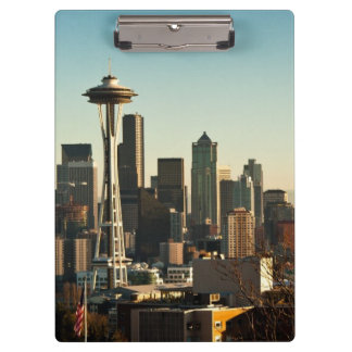Downtown Seattle skyline and Space Needle Clipboard