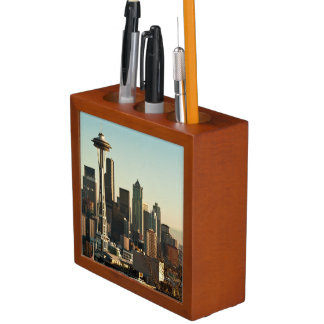 Downtown Seattle skyline and Space Needle Desk Organiser
