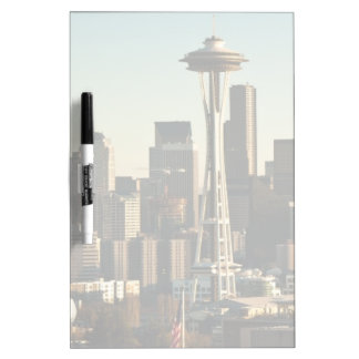 Downtown Seattle skyline and Space Needle Dry Erase Board
