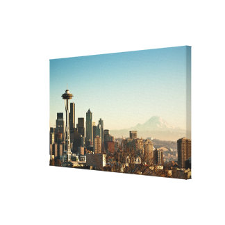 Downtown Seattle skyline and Space Needle Gallery Wrapped Canvas