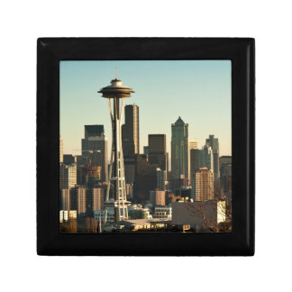 Downtown Seattle skyline and Space Needle Gift Box
