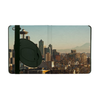Downtown Seattle skyline and Space Needle iPad Case