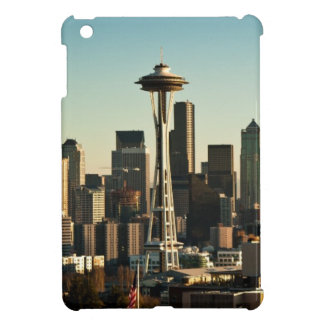 Downtown Seattle skyline and Space Needle iPad Mini Case