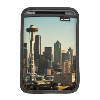 Downtown Seattle skyline and Space Needle iPad Mini Sleeve