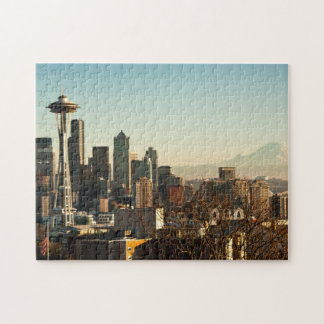 Downtown Seattle skyline and Space Needle Jigsaw Puzzle