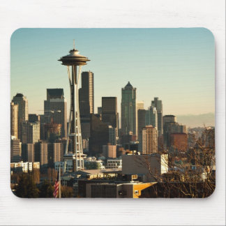 Downtown Seattle skyline and Space Needle Mouse Pad