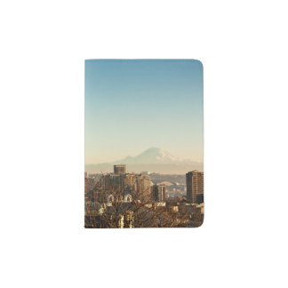 Downtown Seattle skyline and Space Needle Passport Holder
