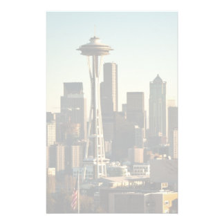 Downtown Seattle skyline and Space Needle Stationery