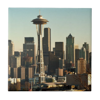 Downtown Seattle skyline and Space Needle Tile