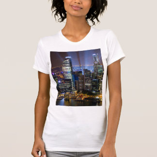 Downtown Singapore city at night T-Shirt