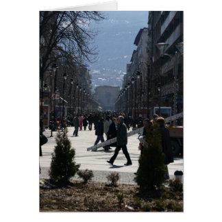 Downtown Skopje 1 Greeting Card