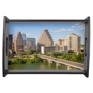 Downtown Skyline on Lady Bird Lake Serving Tray