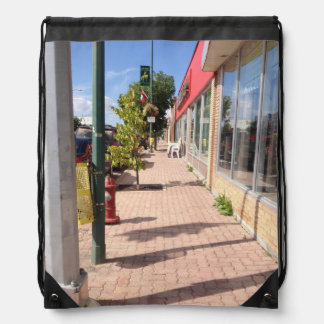 Downtown Swan River drawstring backpack